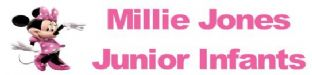 Personalised Minnie Mouse Pencil Sticker (1)
